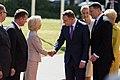 Saeimas priekšsēdētāja piedalās Polijas prezidenta oficiālajā sagaidīšanas ceremonijā (29169498398).jpg