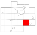Saginaw County Michigan townships Taymouth highlighted.png