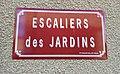 Saint-Just-d'Avray - Escaliers des Jardins - Plaque (nov 2018).jpg
