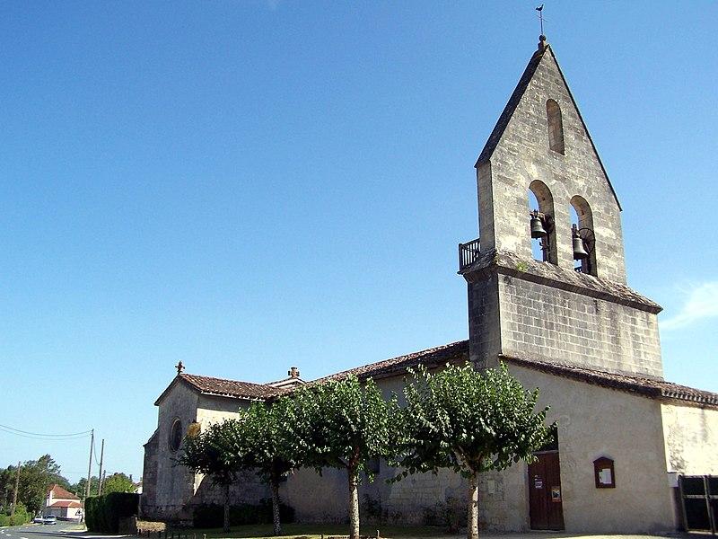 Church Saint-Michel of Saint-Michel-de-Castelnau (Gironde, France)