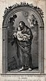 Saint Joseph and the Christ Child. Engraving. Wellcome V0033891.jpg