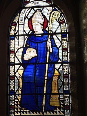 Saint Trillo - St Trillo depicted in the Parish Church of St Trillo, Llandrillo, Wales.