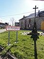 Sainte-Christine (Puy-de-Dôme) wayside cross and city limit sign Les Arbouranges.JPG