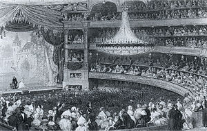 Salle Ventadour - A performance by the Théâtre-Italien at the Salle Ventadour (ca. 1843).