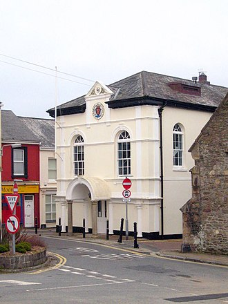 Saltash - Saltash Guildhall; the Guildhall was built about 1780 and extended and restored in 1925