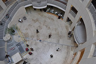 Main Library (San Francisco) - Looking down in the atrium, 2009