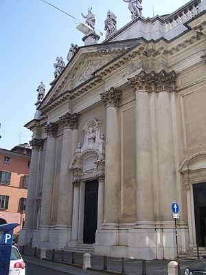 Santi Nazaro e Celso, Brescia - Image: San nazaro (brescia) facciata