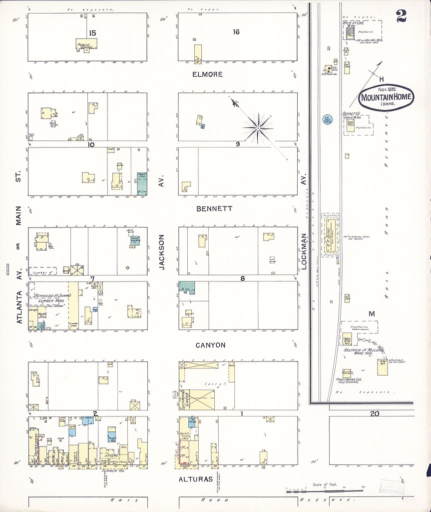 File Sanborn Fire Insurance Map From Mountain Home Elmore County