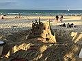Sand castle at Noosa Heads beach January 2015.JPG