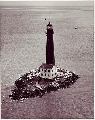 Sand Island Light (Alabama) - Sand Island lighthouse - 1962