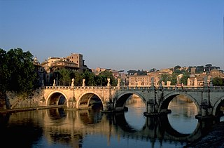 Ponte SantAngelo bridge in Rome
