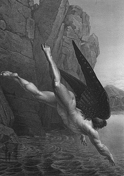 Satan Plunges Into The River Styx from French Ed of Paradise Lost POSTER (453x640)