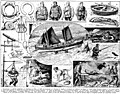 Sauvetage. Rescue, life vests, life boats, lifebuoy etc. Book illustration (encyclopedia plate line art) Larousse du XXème siècle 1932.jpg