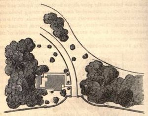 Adam Hodgson - Garden plan by Edward Kemp, published 1858, for Scarthwaite, Adam Hodgson's house at Caton