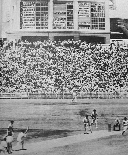 The SCG scoreboard in 1950 Scg scoreboard 1950.jpg