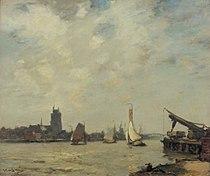 Schepen op de Merwede bij Dordrecht James Campbell Noble (1846-1913).jpg