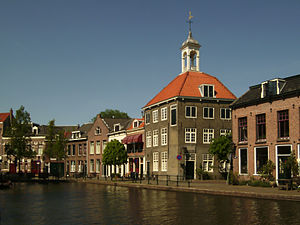 Schiedam - View of Schiedam with The Porters' Guild House