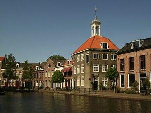 Schiedam - View of Schiedam with The Porters' Guild House