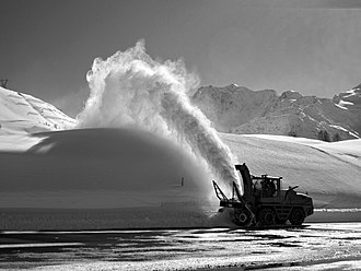 Snow blower - Snow thrower on Simplon Pass