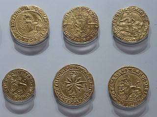gold Scottish coin