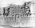 Sculpture panel showing a Jain stupa and torana, Mathura 75-100 CE.jpg