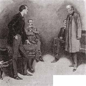 The Adventure of the Second Stain - Holmes listening to his clients.