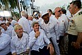 Secretary Kerry Poses for a Photo as he Sits Outside the Cartagena Indias Convention (29663162670).jpg