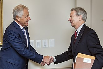 Walter B. Jones Jr. - Secretary of Defense Chuck Hagel, left, meets with Jones on July 10, 2013, at the Pentagon in Arlington, Virginia