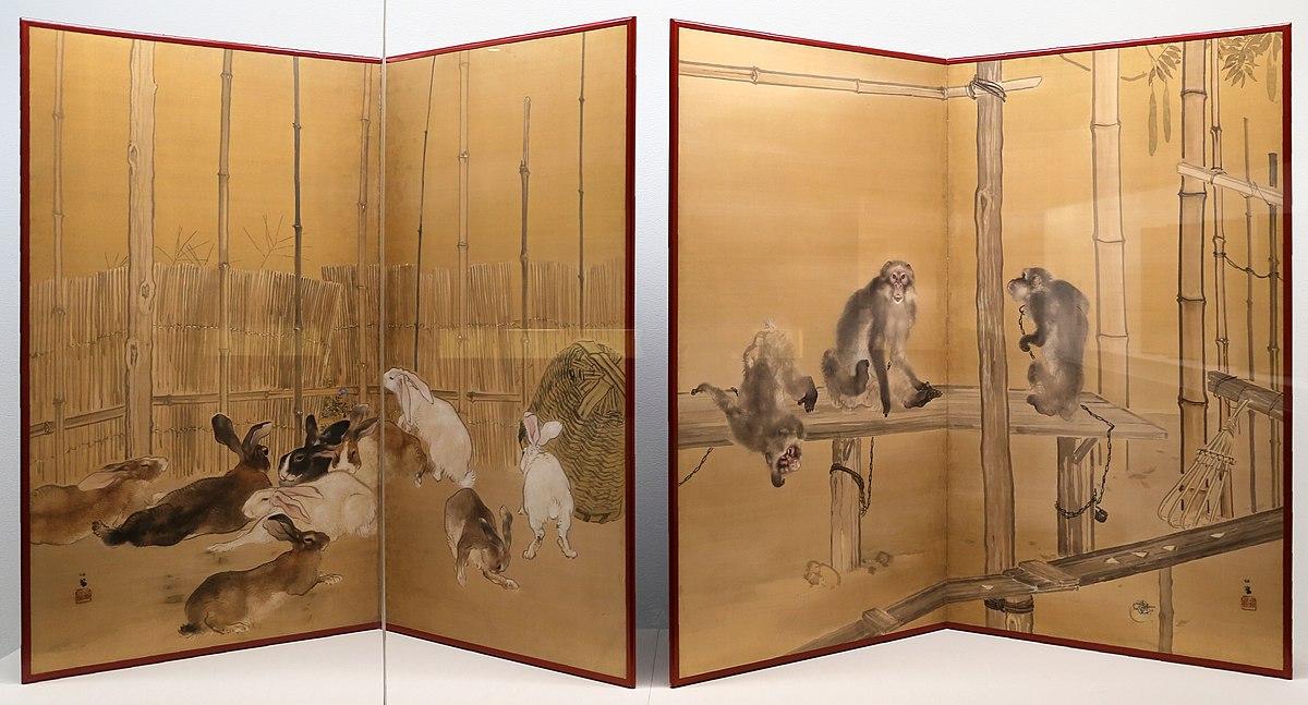 Seiho takeuchi, scimmie e conigli, 1908, 01.jpg