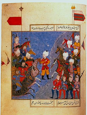 Selim I - 16th-century Ottoman miniature of the Battle of Chaldiran.
