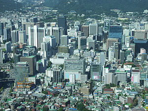Seoul City Core from N-Seoul Tower (5464351080).jpg