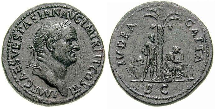 Sestertius - Vespasiano - Iudaea Capta-RIC 0424