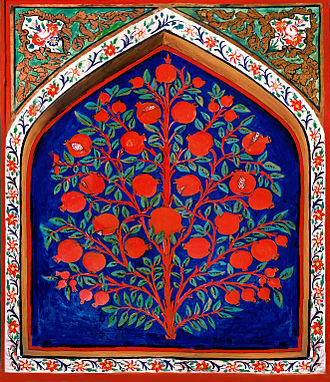 Tree of life - 17th-century depiction of the Tree of Life in Palace of Shaki Khans, Azerbaijan