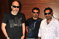 (from left to right) Ehsaan Noorani, Shankar Mahadevan, Loy Mendonsa