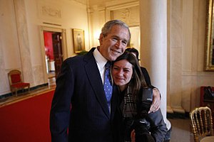 Shealah Craighead - Craighead with George W. Bush at his departing 2009 inauguration day