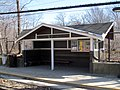 Shelter at Longwood station, March 2016.JPG