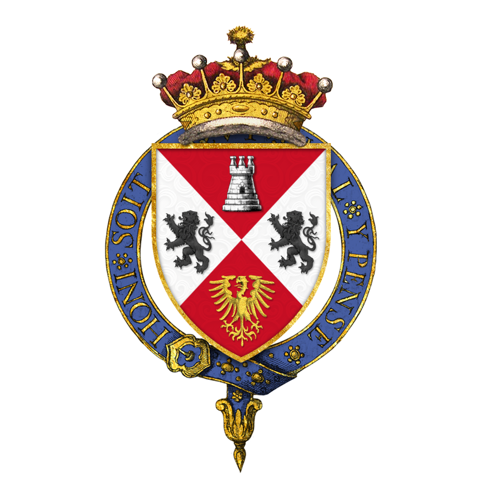 Shield of arms of Benjamin Disraeli, 1st Earl of Beaconsfield, KG, PC, FRS