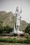 Shiva statue by the Ganges, across Har-ki-Pauri, Haridwar.jpg