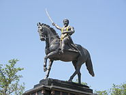 Shivaji Maharajs Statue on Pratapgad