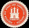 Siegelmarke Direction der Straf - und Corrections - Anstalten - Hamburg W0226621.jpg