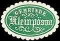 Siegelmarke Gemeinde Kleinpösna W0262255.jpg