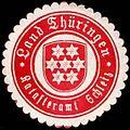Siegelmarke Land Thüringen - Katasteramt Schleiz W0255417.jpg