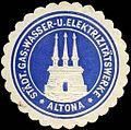 Siegelmarke Städtische Gas, - Wasser - und Elektrizitätswerke - Altona W0245871.jpg