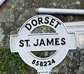 Sign detail, St James - geograph.org.uk - 1962731.jpg