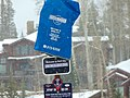 Sign for Montage & Empire Canyon bus stop, Park City, Utah, Apr 16.jpg