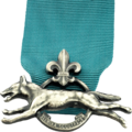 Silvervarg, highest award in Swedish Scouting.png