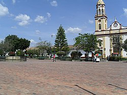 Central square of Simijaca