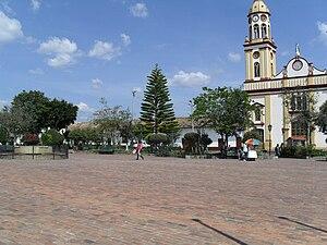 Simijaca - Central square of Simijaca