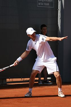Simon Aspelin at the 2009 Mutua Madrileña Madrid Open 01.jpg