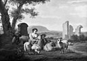 Simon van der Does - Shepherdess with her Flock - KMSsp659 - Statens Museum for Kunst.jpg